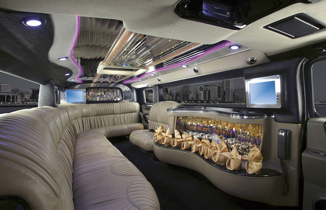 hummer h2 limo interior dusk beige option